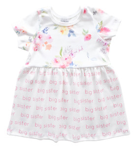 Big Sister Sleeved Dress - blooming garden