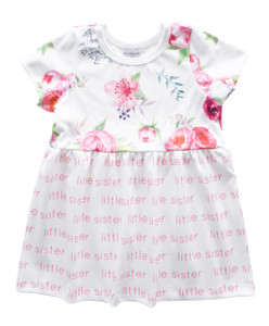Little Sister Sleeved Dress - peony