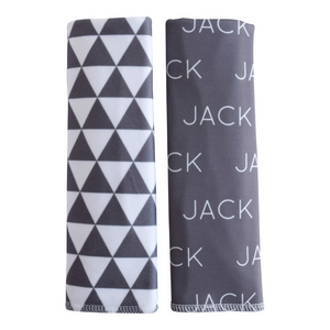 Personalized Double-Sided Burp Cloths / Poly Pyramids / set of 2