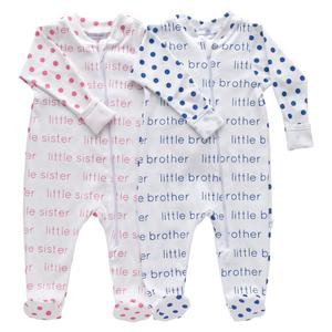 Zip Footie - Polka Dot Little Sister/Little Brother