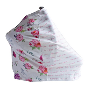 Personalized Carseat Cover - peony
