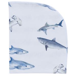 Organic Blanket - sharks