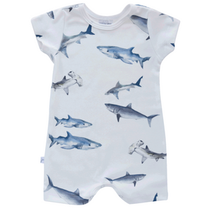 Shorts Romper - sharks