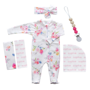 Personalized Hospital Essentials Combo - Floral