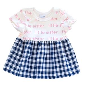 Little Sister Sleeved Dress - gingham