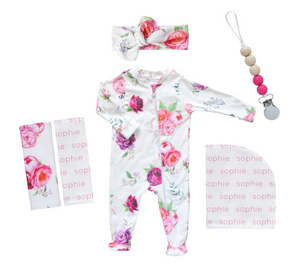 Personalized Hospital Essentials Combo - peony