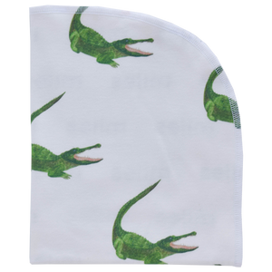 Organic Blanket - alligators