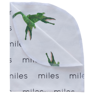 Personalized Double-Sided Organic Blanket - alligators