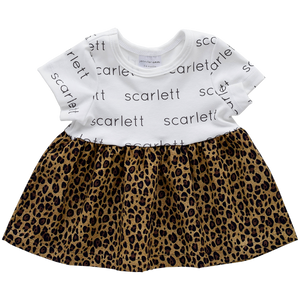 Personalized Sleeved Dress - leopard (LIMITED EDITION)