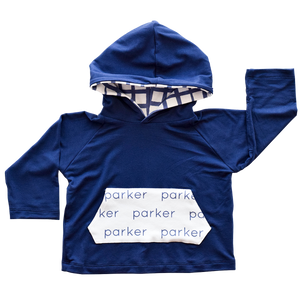 Personalized Pocket Hoodie - grid (LIMITED EDITION)