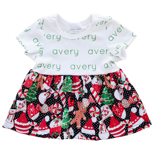 Personalized Sleeved Dress - Christmas joy (LIMITED EDITION)