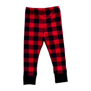 Joggers - buffalo plaid with black cuff