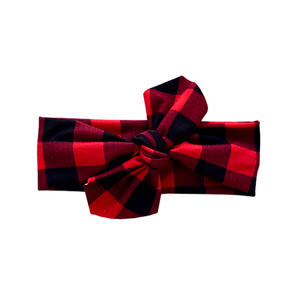 Knotted Headwrap - buffalo plaid