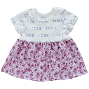 Personalized Sleeved Dress - rosie posie  (LIMITED EDITION)
