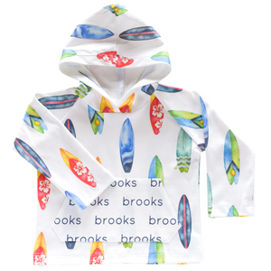Personalized Pocket Hoodie - surf boards