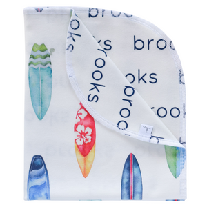 Personalized Double-Sided Organic Blanket - surf boards