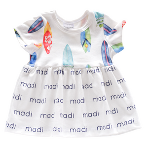 Personalized Sleeved Dress - surf boards