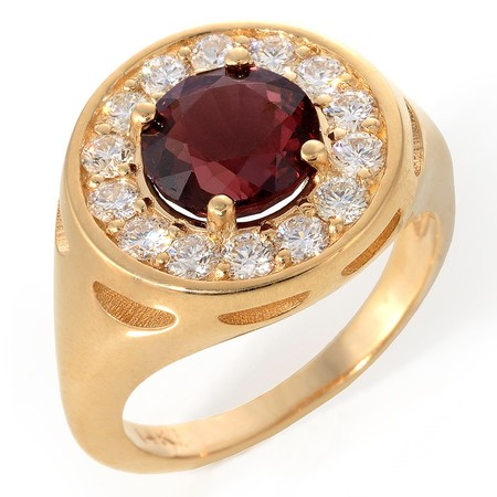 Spinel and Diamond Cocktail Ring 14kt yellow Gold