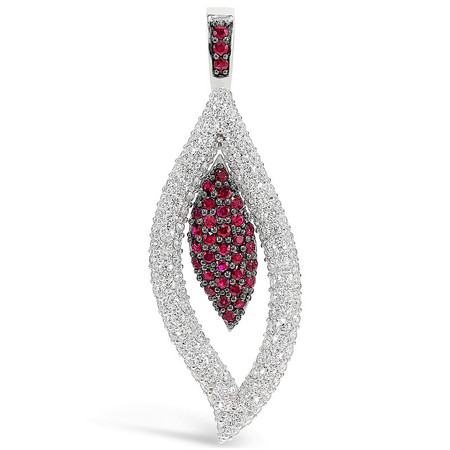 Pendand only; Rubies 0.86 cts; Diamonds 2.37 cts - details below