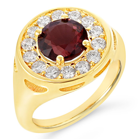 size 7; Spinel center stone 2.29 cts; Diamonds 0.69 cts - details below