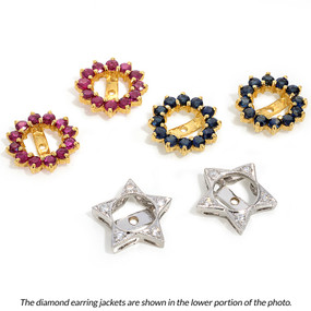 Diamonds TCW 0.13 cts -  stud earring size details below