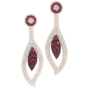 Rubies 2.10 cts; Near Colorless Diamonds 5.24 cts - details below