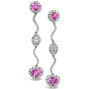 Pink Sapphires 4.70 cts; Diamonds 2.13 cts - details below