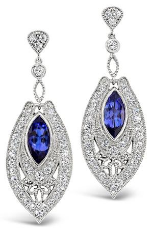 Tanzanites 4.03 cts; Diamonds 2.73 cts - details below