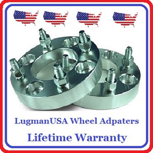 "LugmanUSA Adapters are built from Super Strong 6061-T6 Extruded Billet Aluminum Bar Stock directly from ALCOA Metals. The process of Extruding Billet makes it extremely strong.  Many imported adapters state they are built from 6061 billet, but can be ""CAST"" billet and therefor weaker then True Extruded Billet.  Imagine taking the billet shavings, melting it down and pouring it into a mold.  That's still a ""billet adapter"" right??  Our billet stock is first trucked in from Alcoa and then hoisted by a crane or fork lift onto our CNC Lathe.  There it is machined perfectly round and balanced before being cut to your specific thickness needed.  The ""blank"" is then loaded into one of our state-of-the-art computerized CNC milling centers to be cut to precisely fit your specific vehicle.  The result is a super strong, perfectly balance wheel adapter which will insure the best possible fit and ride for YOU.   We don't stop there!  Just as the grade and the fabrication process of the billet is crucial, so are the studs!  Many other American made wheel adapter companies will use imported wheel studs (U 176) to save money.  NOT US! Wheel Studs installed in LugmanUSA Wheel Adapters are made from high strength steel right out of Pittsburg, PA USA and hardened to grade 10.9 .   The Studs are made in America by American workers for STRENGHT AND SAFETY.    Performance Wheel Adapters sells only true billet wheel adapters. Even our imported line of ""Standard Wheel Adapters"" are true billet and carry a 1-Year Warranty.  LugmanUSA is our Best and Strongest Adapter and carries a Life Time Warranty.  If you want the BEST adapter you can buy in America, made by Americans, then choose LugmanUSA Wheel adapters."
