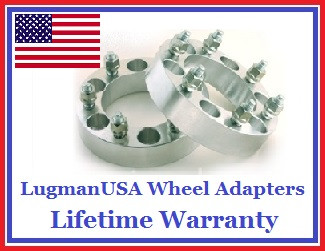 6x114.3 to 6x127 (6x4.5 to 6x5) LugmanUSA Wheel Adapters (Pair of 2)