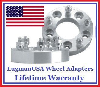 5x105 to 5x114.3 (5x105 to 5x4.5) LugmanUSA Wheel Adapters (Pair of 2)