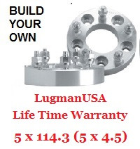 "LugmanUSA Life Time Adapter - Build Your Own 5x4.5"" (5x114.3mm)"