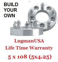LugmanUSA Life Time Adapter - Build Your Own 5x108mm (5x4.25)
