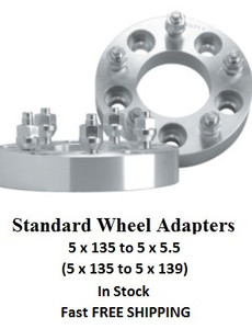 Wheel Adapters 5x135 to 5x5.5 (pair of 2)