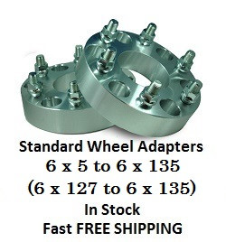 Wheel Adapters 6X5 to 6x135 (pair of 2) 14x2 Studs, 78mm Hub Bore