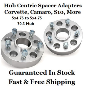 5x4.75 to 5x4.75 Wheel Adapters (pair of 2) HUB CENTRIC Corvette, S10, Camaro, more