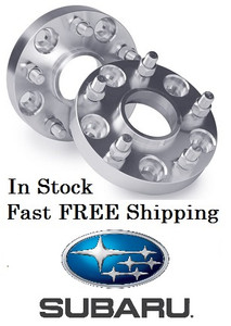 Hub Centric Wheel Adapter Spacer 5x4.5 (5x114.3) Subaru 56.1 (Pair of 2) 12x1.25 Studs 56.1 Hub