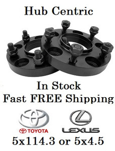 5x4.5 to 5x4.5 Toyota and Lexus 20mm Hub Centric Wheel Adapters (Pair of 2) 60.1mm