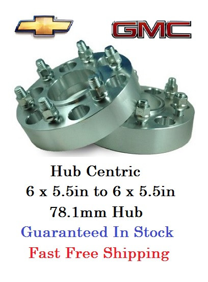 hub centric wheel adapters 6 lug chevy and gmc pair of 2