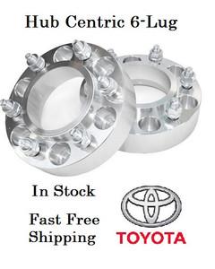 Hub Centric Toyota 6-Lug Wheel Adapters (pair of 2) 12x1.5, 106mm Hub