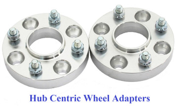 Hub Centric Nissan 4x4.5 to 4x4.5 in (4x114.3mm) Billet Adapters (pair of 2)