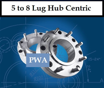 Hub Centric 5x135 to 8x170 Wheel Adapter 2inch, (Pair of 2)