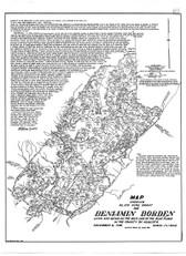 Map - Benjamin Borden Land Grant (Orange & Augusta Counties)