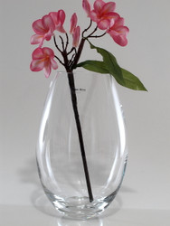 egg glass vase H30cm D19cm