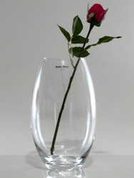 barrel glass vase H23cm D14cm