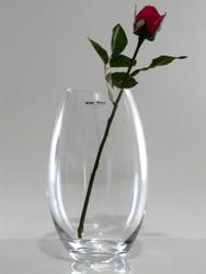 barrel glass vase H23cm D14cm