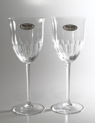 Fluted tulip wine glass