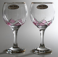 Time Tree Turkish Wine Glass Pink DIAMOND H16cm V250cc (Set Of 2)