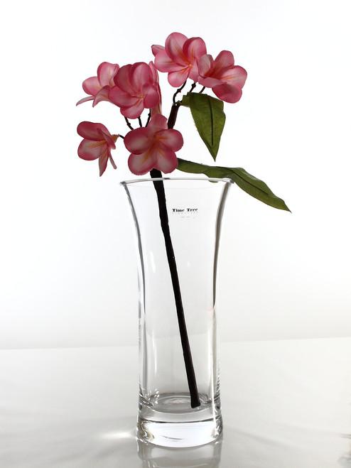 flared cylindric glass vase H28cm