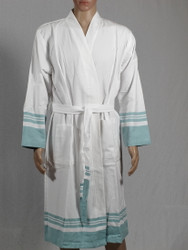 lykia bathrobe blue